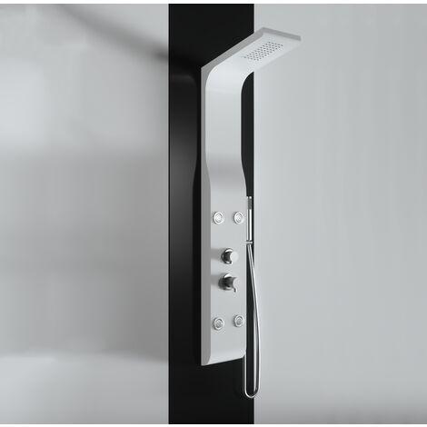 Panel de ducha de hidromasaje en ABS con recubrimiento de polvo blanco mate PRODUCTO (GIO.16)