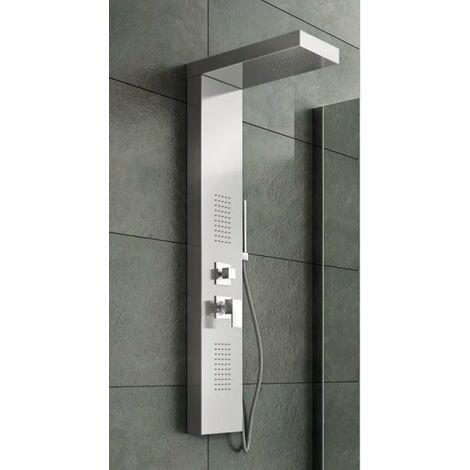 Panel de ducha hidromasaje con tres funciones en acero brillante PRODUCTO (GIO.01)