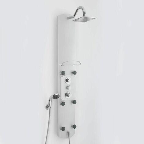 Panel de Ducha Termostático Hidromasaje Multifunción en Aluminio - Arcan