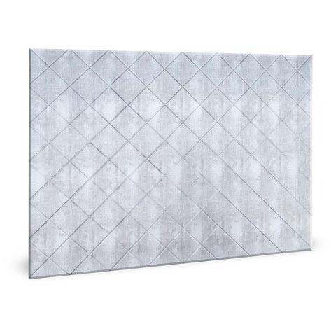 Panel de pared 3D Profhome 3D 704546 Criss Crosshatch Silver Panel decorativo liso diseño vintage brillante plata 1,7 m2
