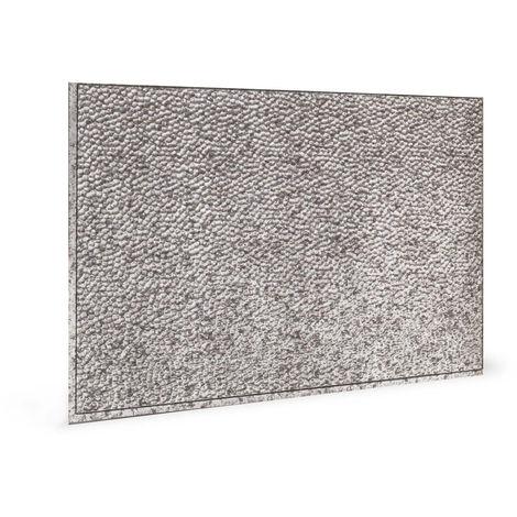 Panel de pared 3D Profhome 3D 705048 Lamina Crosshatch Silver Panel decorativo gofrado con dibujo abstracto brillante plata 1,7 m2