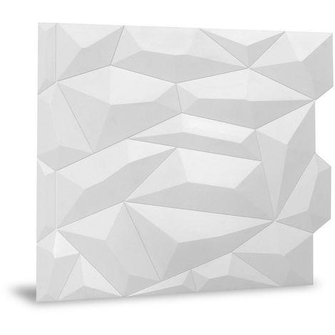 Panel de pared 3D Profhome 3D 705390 Glacier Matte White Panel decorativo liso con dibujo abstracto mate blanco 2 m2
