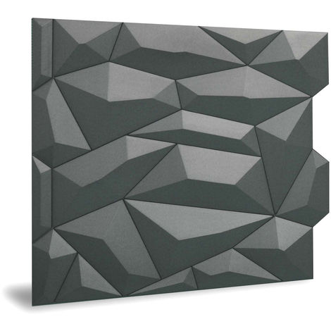 Panel de pared 3D Profhome 3D 705475 Glacier Smoked Gray Panel decorativo liso con dibujo abstracto mate gris 2 m2