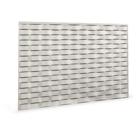 Panel de pared 3D Profhome 3D 705564 Lattice Brushed Nickel Panel decorativo gofrado diseño vintage brillante plata 1,7 m2
