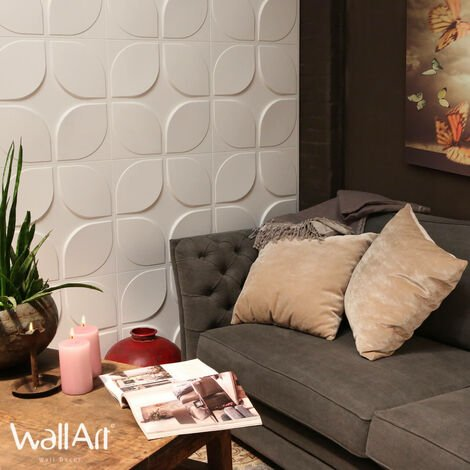 Panel de pared 3D Sweeps Panel decorativo 3d WallArt 3m²