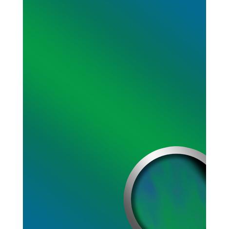 Panel de pared aspecto espejo brillante WallFace 18443 DECO AQUA Revestimiento mural brillante autoadhesivo resistente a la abrasión verde azul 2,60 m2