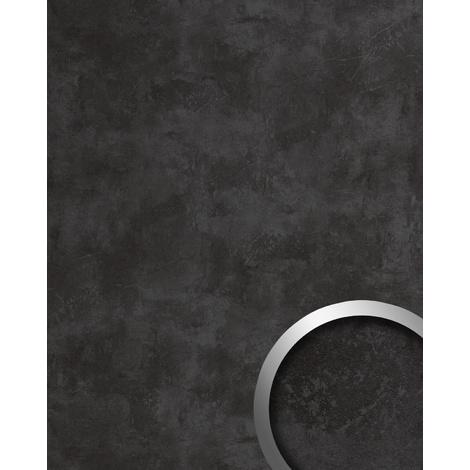 Panel de pared aspecto hormigón WallFace 19092 CEMENT DARK Panel decorativo texturado de aspecto piedra mate autoadhesivo antracita 2,6 m2