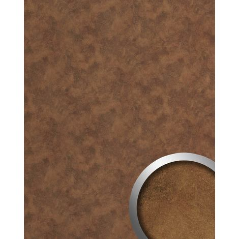 Panel de pared aspecto metal WallFace 20186 OXIDIZED Copper AR liso Revestimiento mural diseño vintage brillante autoadhesivo resistente a la abrasión cobre pardo-cobre 2,6 m2