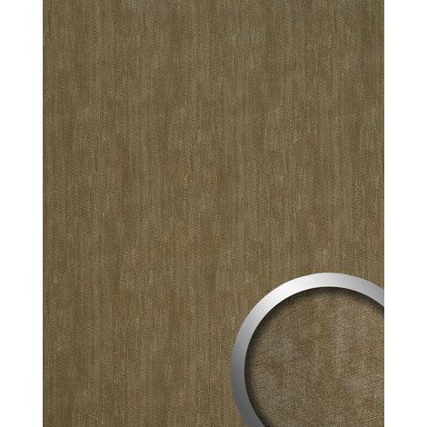 Panel de pared aspecto metal WallFace 20194 METALLIC USED Bronze AR liso Revestimiento mural used look brillante autoadhesivo resistente a la abrasión bronce pardo-grisáceo 2,6 m2