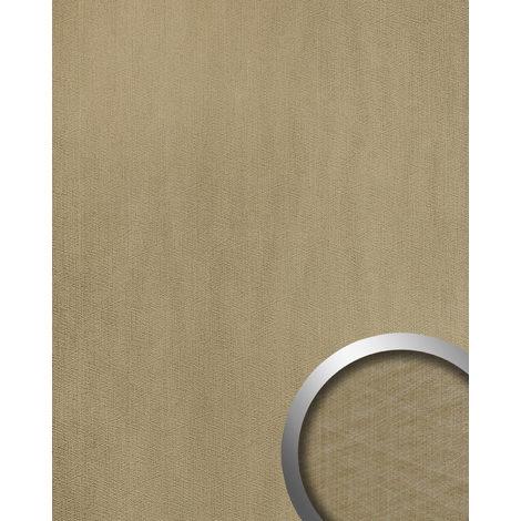 Panel de pared aspecto metal WallFace 20198 METALLIC USED Champagne AR liso Revestimiento mural used look brillante autoadhesivo resistente a la abrasión gris beige-agrisado 2,6 m2