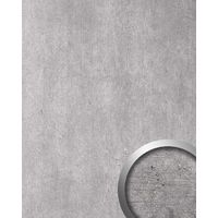Panel de pared aspecto piedra WallFace 19563 Antigrav CEMENT Light Panel decorativo texturado de aspecto hormigón mate gris gris-claro 2,6 m2