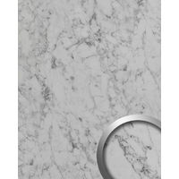 Panel de pared aspecto piedra WallFace 19566 Antigrav MARBLE White Panel decorativo texturado de aspecto mármol mate blanco blanco-grisáceo 2,6 m2