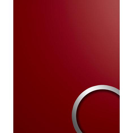 Panel de pared aspecto plástico WallFace 19522 Magic Red liso Panel decorativo unicolor mate autoadhesivo resistente a la abrasión rojo 2,6 m2