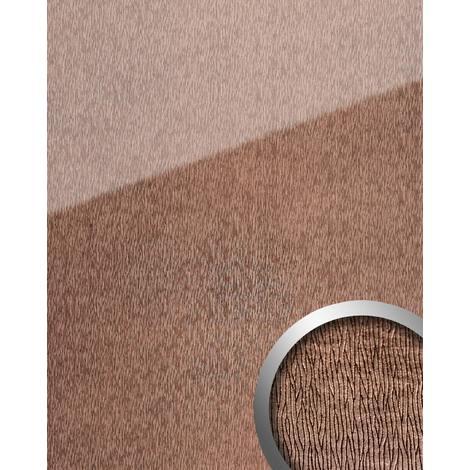 Panel de pared aspecto vidrio WallFace 20216 CURVED Rose AR+ liso Revestimiento mural de aspecto cuero extra brillante autoadhesivo resistente a la abrasión rosa bronce 2,6 m2