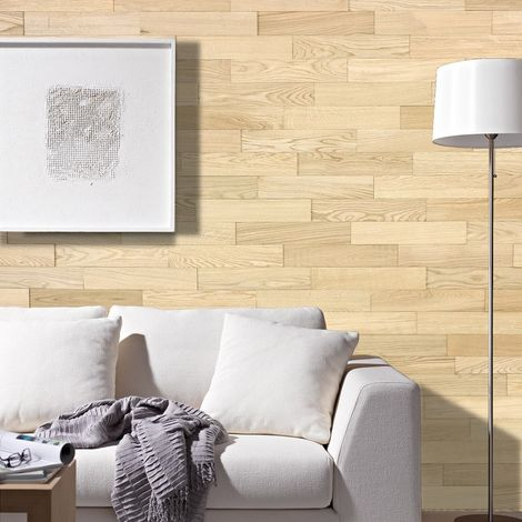Panel de Pared de Madera Roble Natural Revestimiento De Paredes 400mm