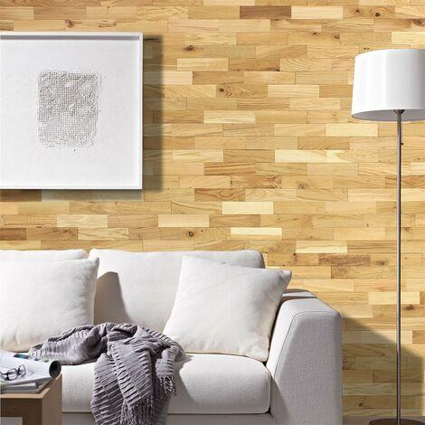 Panel de Pared de Madera Roble Rústico Aceitada Revestimiento De Paredes 200mm | 1m²