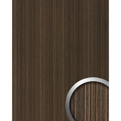 Panel de pared decoración natural WallFace 19571 Antigrav WENGE WOOD Panel decorativo texturado de aspecto madera mate marrón marrón-oscuro 2,6 m2