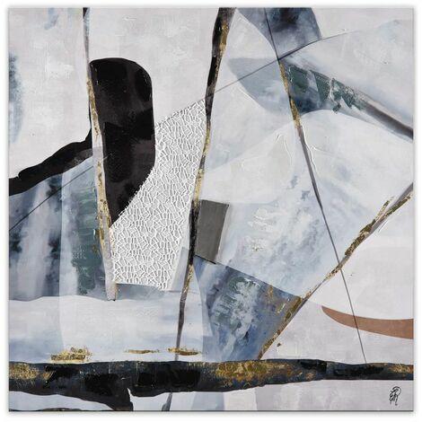 Panel de prensa abstracta cm 100x100x3,5 Artedalmondo AS465X1