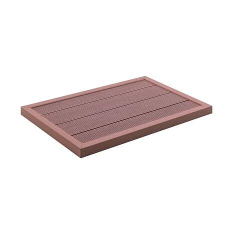 Panel de suelo para ducha solar WPC marron 101x63x5,5 cm