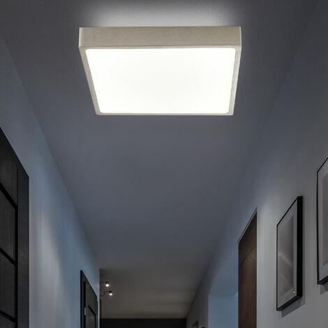Panel de techo LED Lámparas de lamas LED regulables Plafón de techo plano rectangular, estructura, blanco mate níquel, 22 vatios 1980 lúmenes blanco neutro, L 17 cm, salón cocina
