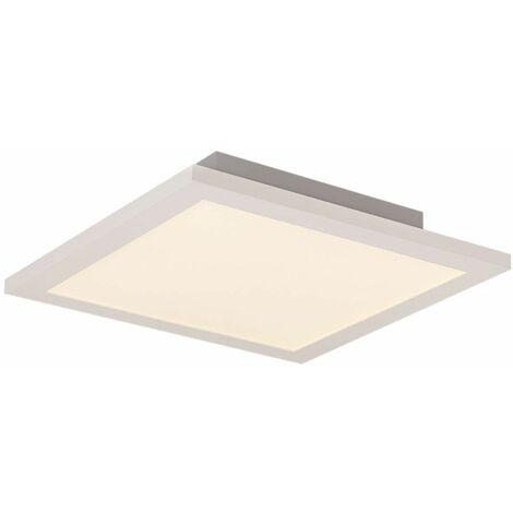 Panel de techo Plafón de techo LED Lámparas de lamas LED Plafón de techo plano, montaje en superficie, aluminio blanco, 18 vatios 1440 lúmenes blanco cálido, L 30 cm, salón cocina