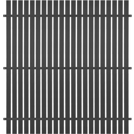 Panel de valla de aluminio 180x180 cm gris antracita