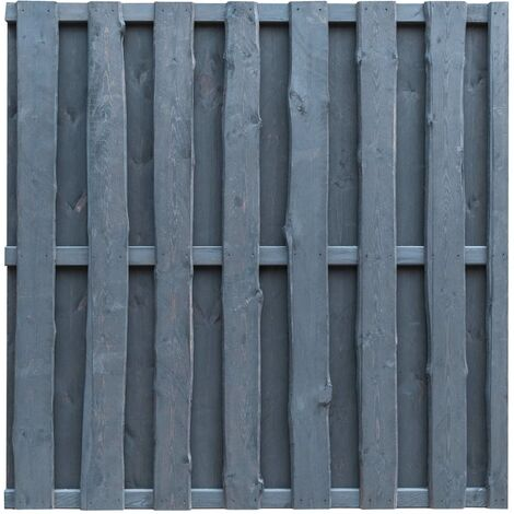 "main image of ""Panel de valla de jardín madera de pino 180x180 cm gris"""