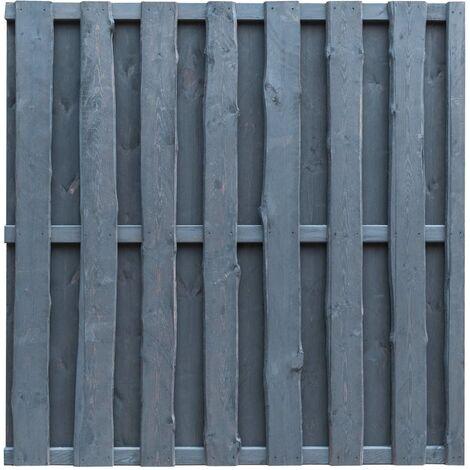 Panel de valla de jardín madera de pino 180x180 cm gris - Gris