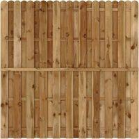 Panel de valla de jardín madera de pino FSC 180x180 cm