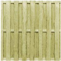 Panel de valla de jardín madera de pino FSC 180x180 cm verde