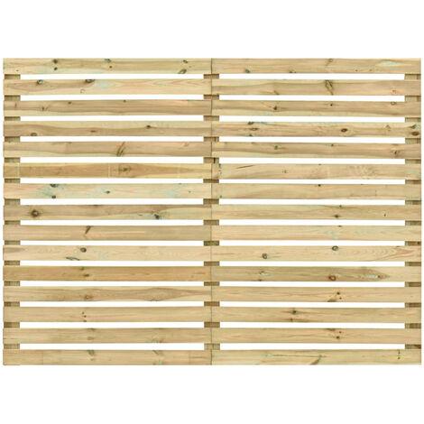 Panel de valla de jardin madera de pino impregnada 180x180 cm