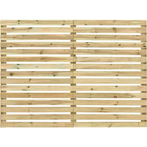 Panel de valla de jardín madera de pino impregnada 180x180 cm - Marrón