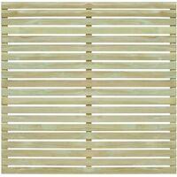 Panel de valla de jardín madera pino impregnada FSC 180x180 cm