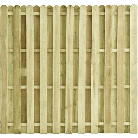 Panel de valla de madera de pino impregnada 180x170 cm