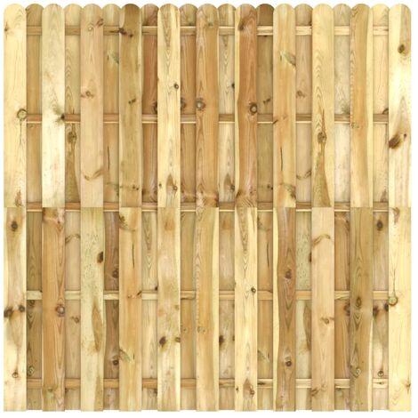 Panel de valla de madera de pino impregnada 180x170 cm - Marrón