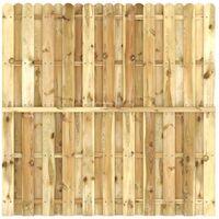 Panel de valla de madera de pino impregnada FSC 180x180 cm