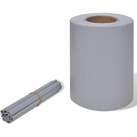Panel de valla de PVC gris claro 70x0,19 m