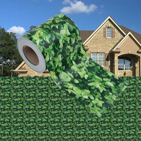 Panel de valla de PVC verde 35x0,19 m - Verde