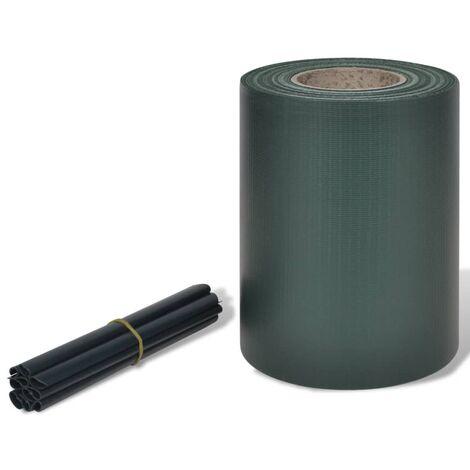 Panel de valla de PVC verde 70x0,19 m