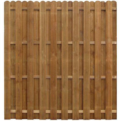 Panel de valla madera de pino impregnada 170x170 cm - Marrón