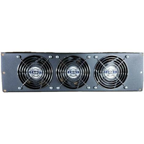 Panel de ventilación Punto 3 de la Unidad completa con 3 ventiladores Negro 20293N