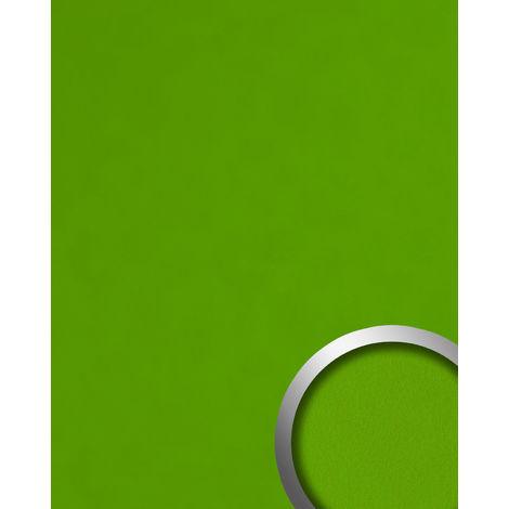 Panel decorativo aspecto cuero napa WallFace 20423 Antigrav APPLE GREEN Revestimiento mural liso de aspecto cuero mate verde 2,6 m2