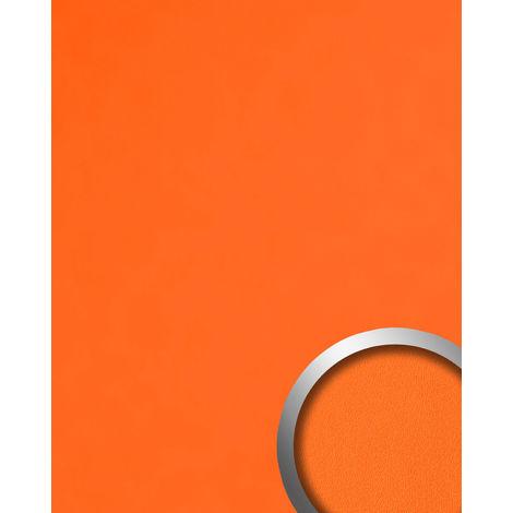 Panel decorativo aspecto cuero napa WallFace 20424 Antigrav PUMPKIN ORANGE Revestimiento mural liso de aspecto cuero mate naranja 2,6 m2