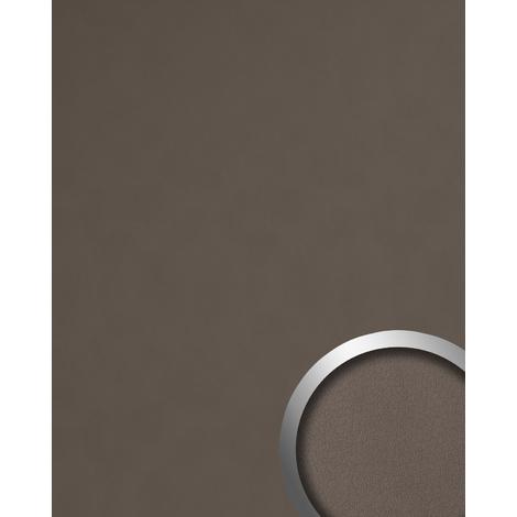 Panel decorativo aspecto de cuero WallFace 19024 DOVE TALE Panel de pared liso de aspecto cuero napa mate autoadhesivo marrón beige-agrisado 2,6 m2
