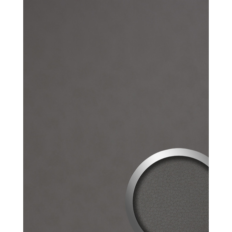 Panel decorativo aspecto de cuero WallFace 19301 CHARCOAL LIGHT Panel de pared liso de aspecto cuero napa mate autoadhesivo gris gris-cuarzo 2,6 m2