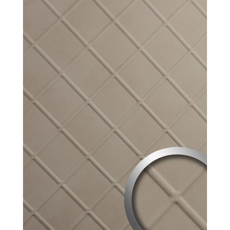 Panel decorativo aspecto de cuero WallFace 19545 CORD Stony Ground gofrado Revestimiento mural de aspecto cuero napa mate autoadhesivo beige 2,6 m2