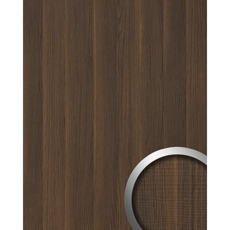 Panel decorativo aspecto madera WallFace 19030 NUTWOOD nogal decoración de madera tacto natural revestimiento mural autoadhesivo marrón oscuro 2,60 m2