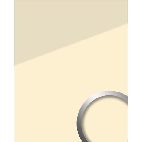 Panel decorativo aspecto vidrio WallFace 17940 UNI MAGNOLIA revestimiento mural autoadhesivo beige crema 2,60 m2