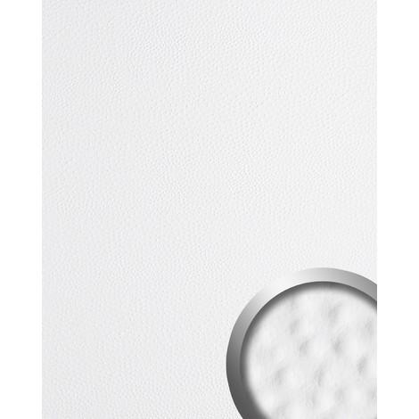 Panel decorativo autoadhesivo de diseño piel de avestruz 13400 OSTRICH con relieve 3D color blanco 2,60 m2