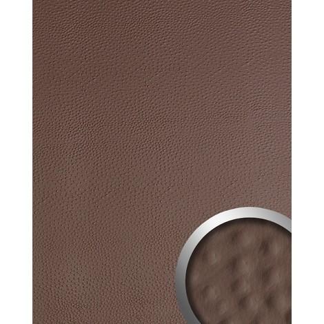 Panel decorativo autoadhesivo de diseño piel de avestruz 13403 OSTRICH con relieve 3D color café 2,60 m2